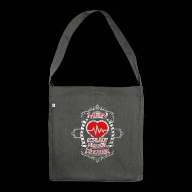 My heart is only for the carbs - Shoulder Bag made from recycled material