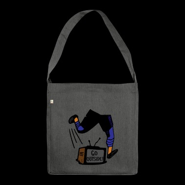 Kids Soccer - Playing Outside - Go Outside! - Shoulder Bag made from recycled material