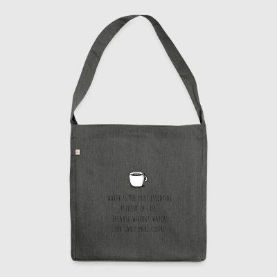 Water for Coffee - Shoulder Bag made from recycled material