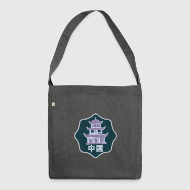 oriental symbol - Shoulder Bag made from recycled material