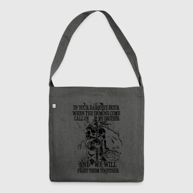 In your darkest hour call on me (dark) - Shoulder Bag made from recycled material