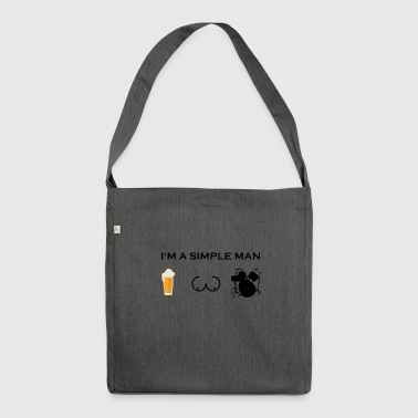 simple man boobs beer beer tits DRUMMER BLOW - Shoulder Bag made from recycled material