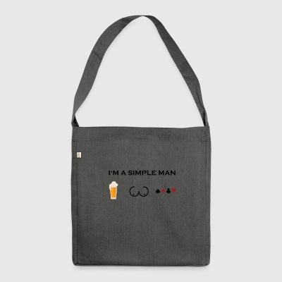 simple man boobs beer beer tits poker poker png - Shoulder Bag made from recycled material
