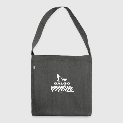 MOM MUTTER DOG HUND WOMAN GALGO ESPAN OL - Schultertasche aus Recycling-Material