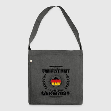 Never underestimate man Roots GERMANY png - Shoulder Bag made from recycled material