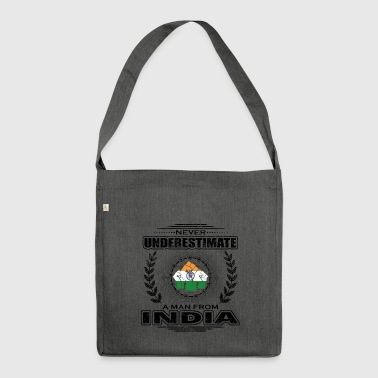 Never Underestimate Man Roots INDIA png - Shoulder Bag made from recycled material