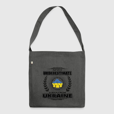 Never underestimate man Roots UKRAINE png - Shoulder Bag made from recycled material