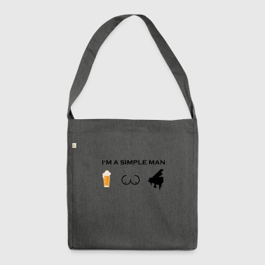 simple man boobs beer beer tits piano piano pn - Shoulder Bag made from recycled material