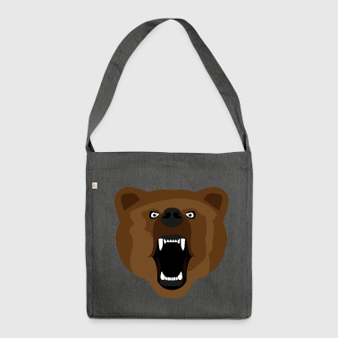 Bear / Bear / Медвед / aggressive - Shoulder Bag made from recycled material