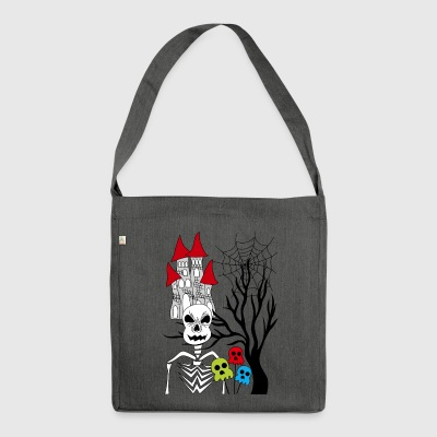 halloween skeleton - Shoulder Bag made from recycled material