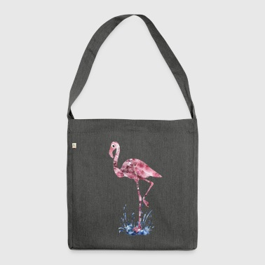 flamingo pink crystals Press - Shoulder Bag made from recycled material