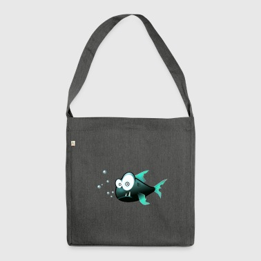 confused Piranha - Shoulder Bag made from recycled material