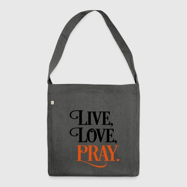 2541614 15903118 pray - Shoulder Bag made from recycled material