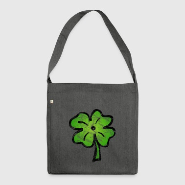 Shamrock lucky Ireland vintage - Shoulder Bag made from recycled material