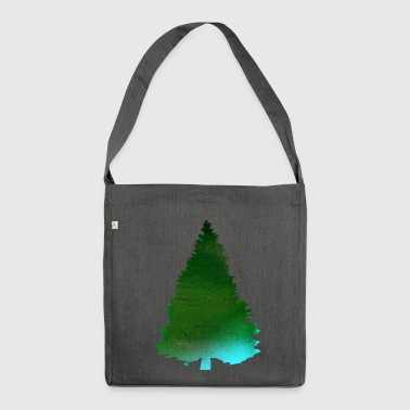 Green Christmas tree - Shoulder Bag made from recycled material