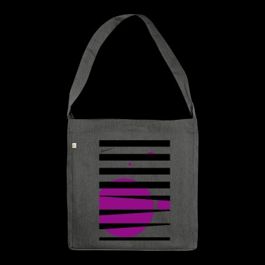 Pink Stripes - Schultertasche aus Recycling-Material