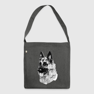 German shepherd - Shoulder Bag made from recycled material