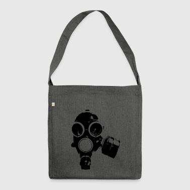gas-mask1 - Shoulder Bag made from recycled material