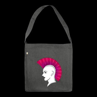 Punk punk Iroquois Iro drawing gift - Shoulder Bag made from recycled material