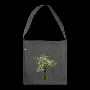 Cherry blossom tree - tree - flowering - Shoulder Bag made from recycled material