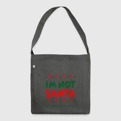 Ugly Christmas Sweater Spruch Santa Xmas Geschenk - Schultertasche aus Recycling-Material