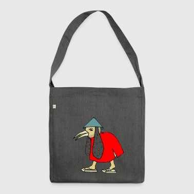 Asian birdman cartoon asian funny gift - Shoulder Bag made from recycled material