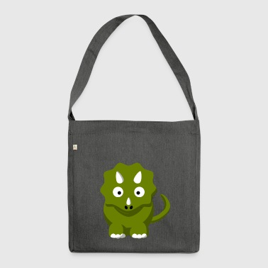 Dinosaur Comic Triceratops - Shoulder Bag made from recycled material