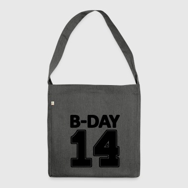 14 number fourteen / birthday number number jersey - Shoulder Bag made from recycled material