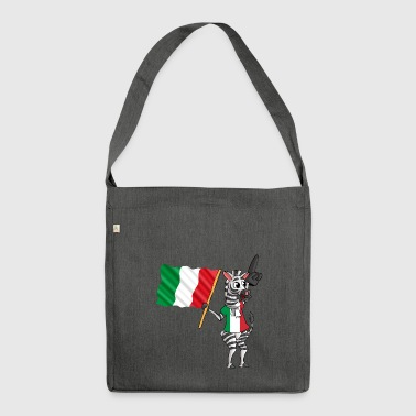Italian zebra - Shoulder Bag made from recycled material