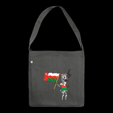 Oman zebra - Shoulder Bag made from recycled material
