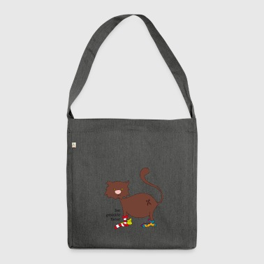 The Socked Cat Cat Sock T-Shirt - Shoulder Bag made from recycled material
