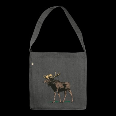 Moose Norway Finland Sweden Scandinavia - Shoulder Bag made from recycled material