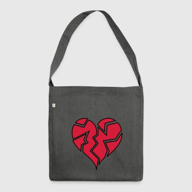 HEARTBROKEN <3 - Shoulder Bag made from recycled material