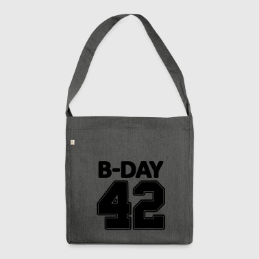 Number 42 / 42nd birthday number jersey number - Shoulder Bag made from recycled material