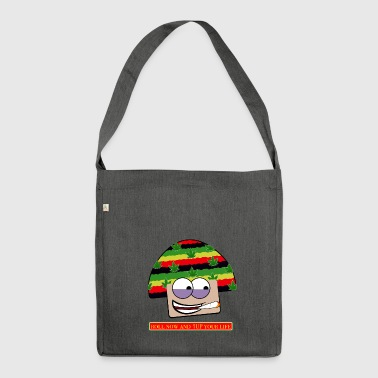mushroom ganja-man - Shoulder Bag made from recycled material