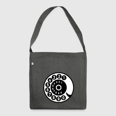 Vintage telephone retro nostalgic dial old - Shoulder Bag made from recycled material