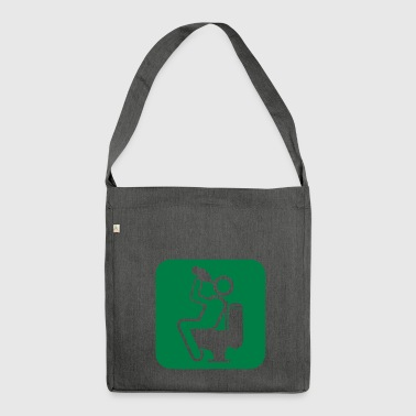 drink4 drink alcohol toilet chiotte wc d - Shoulder Bag made from recycled material