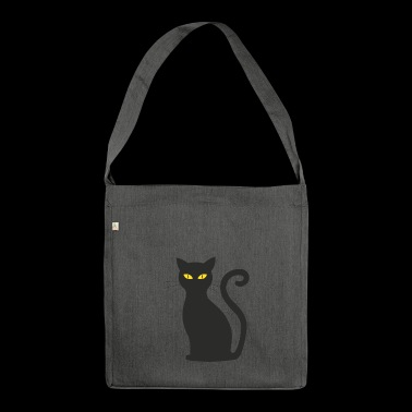 schwarze Katze - Shoulder Bag made from recycled material