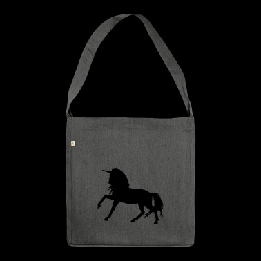 schwarzes Einhorn - Shoulder Bag made from recycled material