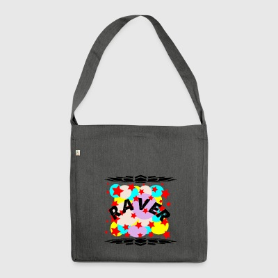 raver curve - Shoulder Bag made from recycled material