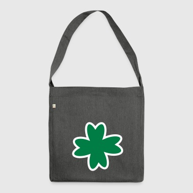 Lucky clover Cloverleaf | Lucky charms New Year's Eve - Shoulder Bag made from recycled material