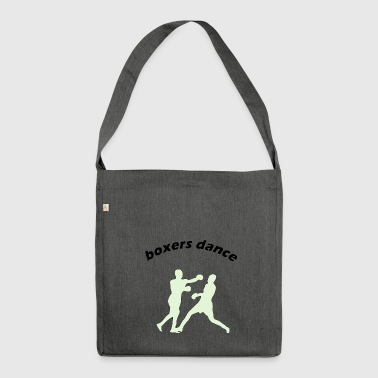 boxers dance - Shoulder Bag made from recycled material