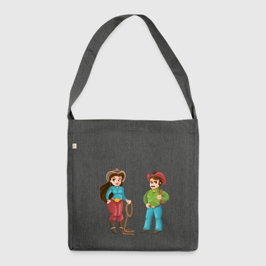 Western Couple - Shoulder Bag made from recycled material