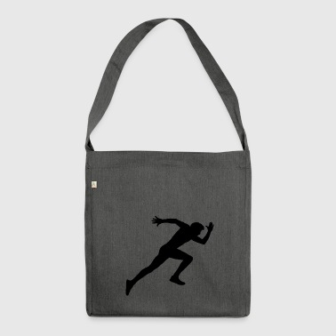 Runner, sports, racing sprint, - Shoulder Bag made from recycled material