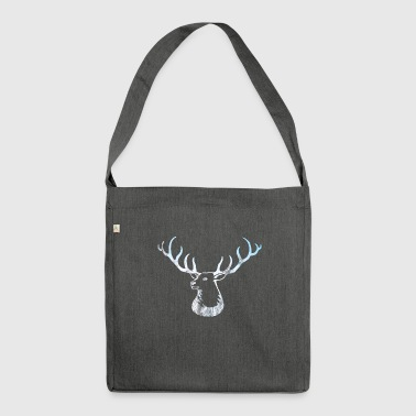 Deer Antler Shirt - Deer Deer Scandinavia Forest - Shoulder Bag made from recycled material