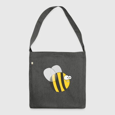 Cool & Crazy Funny Bee / Bumble Bee (Sweet & Cute) - Shoulder Bag made from recycled material