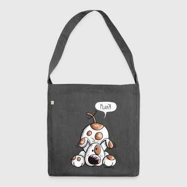 Happy Dog - Dogs - Comic - Cartoon - Shoulder Bag made from recycled material