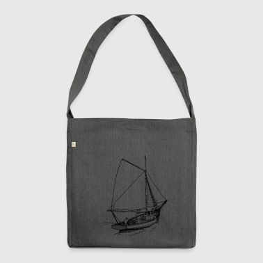 paddle boat sail boat rowing boat sailboat55 - Shoulder Bag made from recycled material