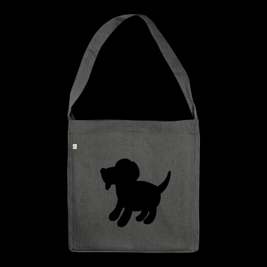 Hund - Schultertasche aus Recycling-Material