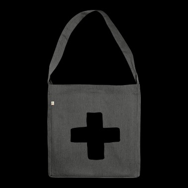Plus cross - Shoulder Bag made from recycled material